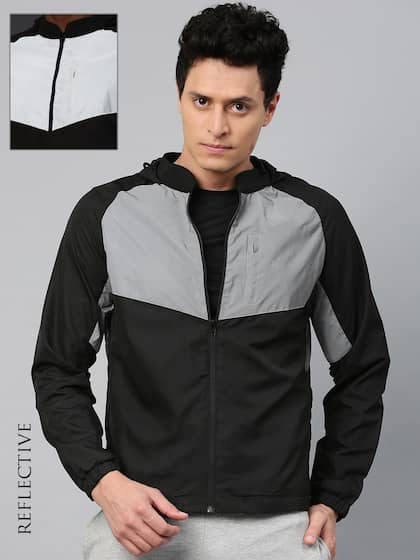 acceb44d025 HRX Active by Hrithik Roshan Men Black Solid Sporty RAPID-DRY Jacket