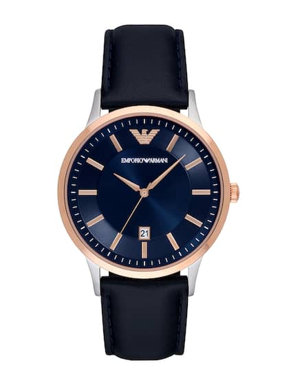 29dacb467d3b74 Emporio Armani Men Blue   Silver-Toned Analogue Watch AR2506