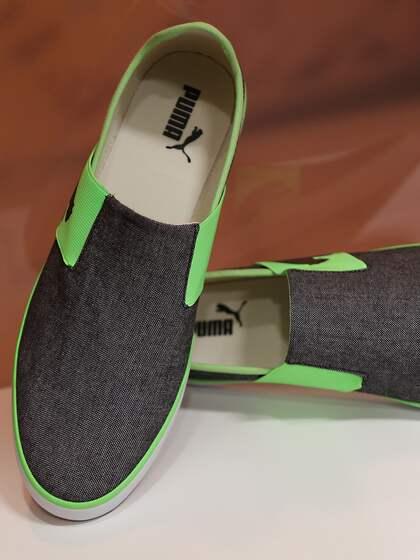 539516a6232 Puma Unisex Black   Green Lazy II DP Colourblocked Slip-On Sneakers