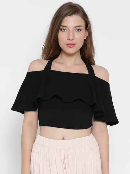 11636f34e713c Crop Tops - Buy Midriff Crop Tops Online for Women in India