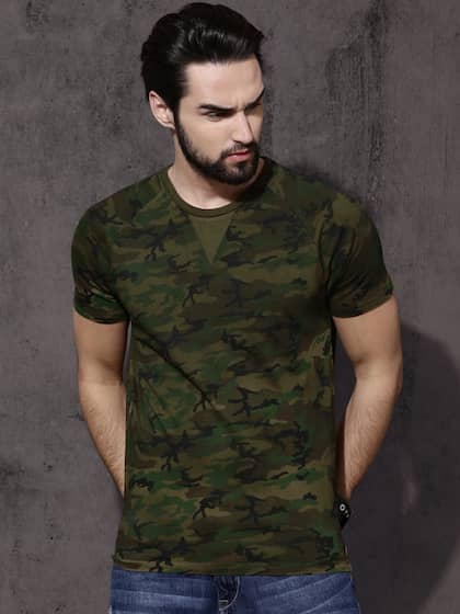 94a26a4d46 Military Tshirts - Buy Military Tshirt Online in India | Myntra