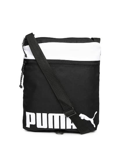 Puma Unisex Black   White Sole Portable Printed Messenger Bag 607a599d8f