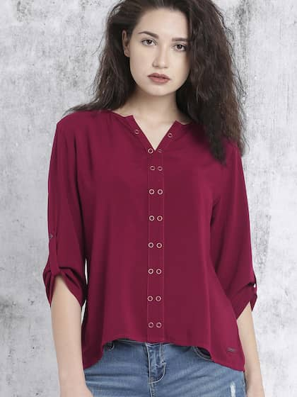 62b8f9eeac8 Ladies Tops - Buy Tops & T-shirts for Women Online | Myntra