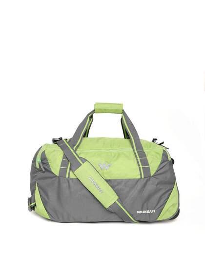 Wildcraft Unisex Green   Grey Truant Colourblocked Trolley Duffel Bag 11150499c3bb8
