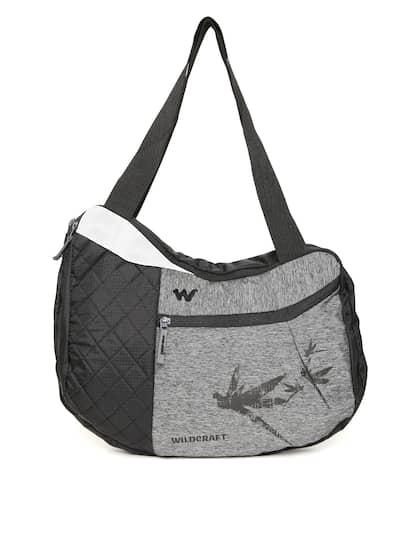 86374a9a7c7a Wildcraft Unisex Grey   Black Solid Messenger Bag