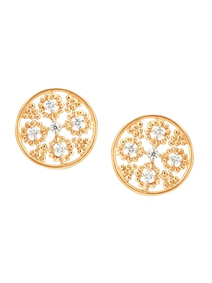 Mia By Tanishq 2 23 G 14 Karat Gold Everyday Work Essentials Stud Earrings With Diamonds
