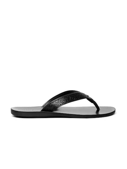 27713bd28 Select a size. 10. Tommy Hilfiger Men Black Textured Leather Sandals