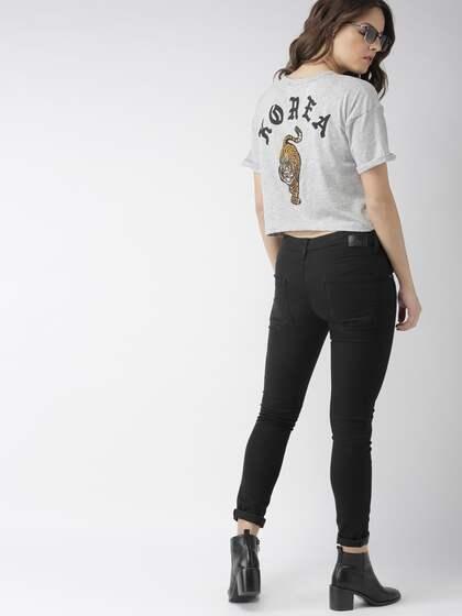 dae1f1809 T-Shirts for Women - Buy Stylish Women's T-Shirts Online   Myntra