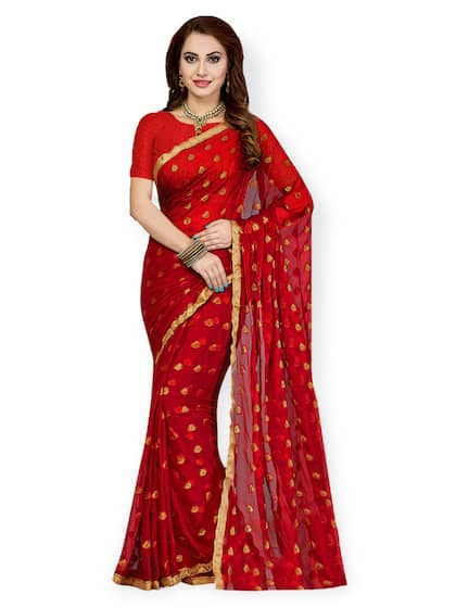 1d488eb850 Red Saree - Buy Red Color Fashion Sarees Online | Myntra