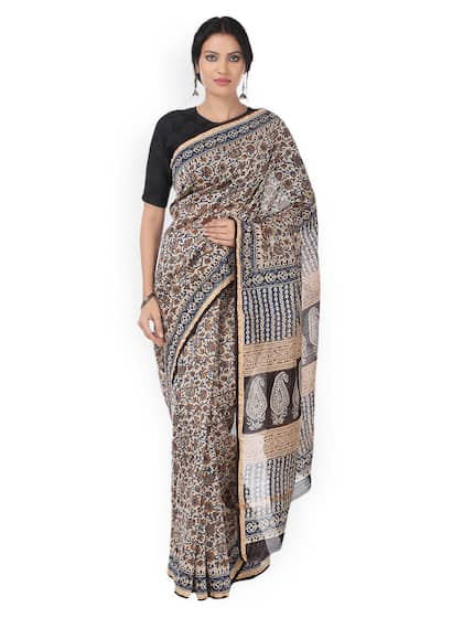 1f55862eaf Kalamkari Sarees - Shop for Kalamkari Saree Online in India | Myntra