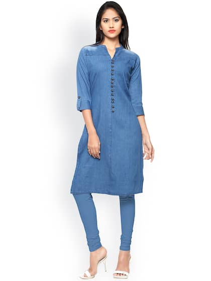 a56f21b7252 Denim Kurtas - Buy Denim Kurtas online in India