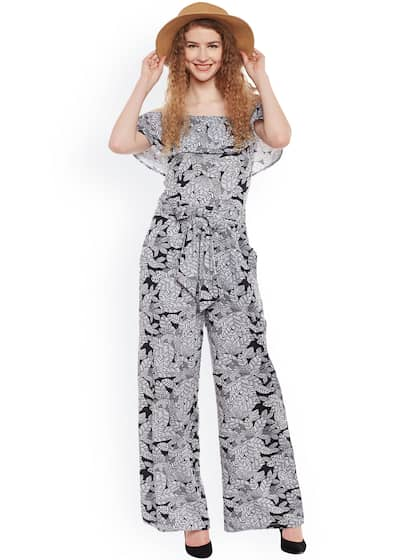 54516c1e416 Belle Fille. Printed Off-Shoulder Jumpsuit