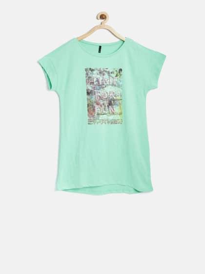 ee8fb4cb9 Tops for Girls - Buy Girls Tops   Tshirts Online - Myntra