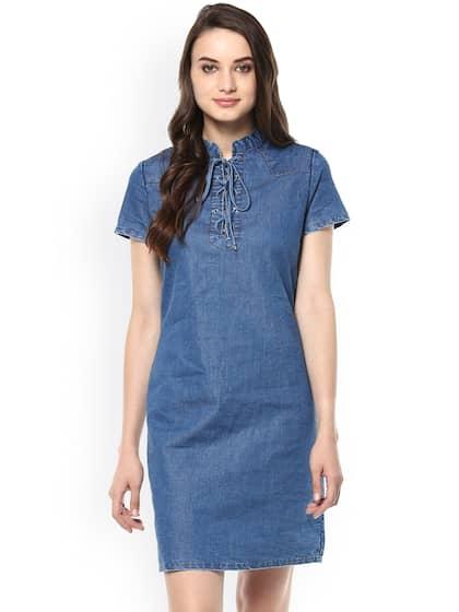 a5c4a1e8e7cc Denim Dresses - Buy Denim Dresses Online in India   Myntra
