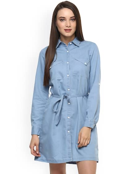 e6ac307bc7a Denim Dresses - Buy Denim Dresses Online in India | Myntra