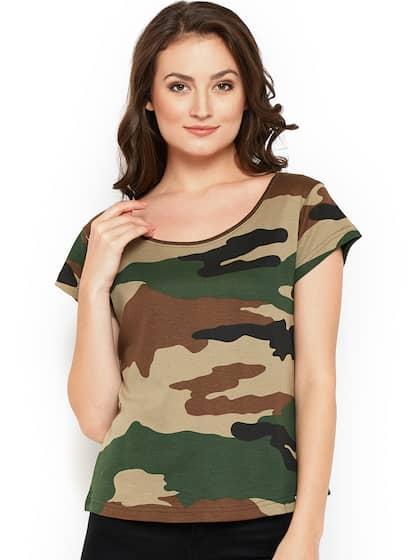 cdf44b58b16c51 Military Tshirts - Buy Military Tshirt Online in India | Myntra