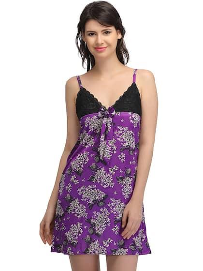 Clovia Satin Loungewear And Nightwear - Buy Clovia Satin Loungewear ... 535eb0fd5