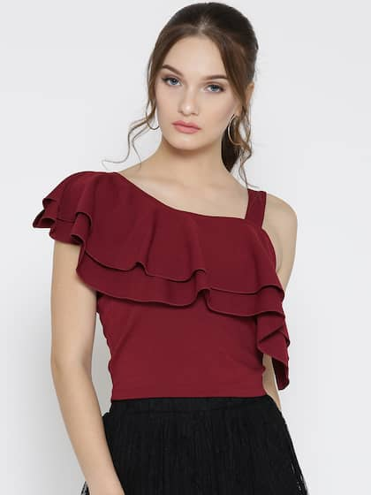 8622ac09f12 One Shoulder Tops - Buy One Shoulder Tops Online in India