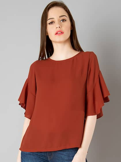 f99ed833c4c219 Faballey Red Tops - Buy Faballey Red Tops online in India