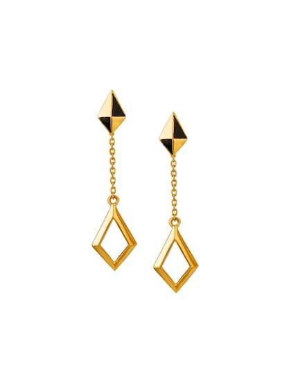 718e9dd719613 Gold Earrings - Buy Gold Earrings for Women in India at Myntra