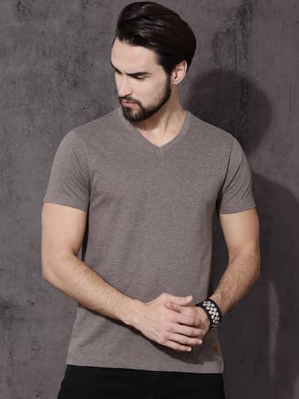 320218283145 V Neck T-shirt - Buy V Neck T-shirts Online in India | Myntra