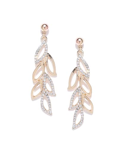 a10fbe17d0d071 Size. YouBella Gold-Plated Contemporary Stone-Studded Drop Earrings