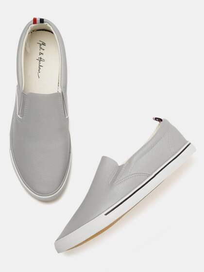 Mast & Harbour Men Grey Slip-On Sneakers