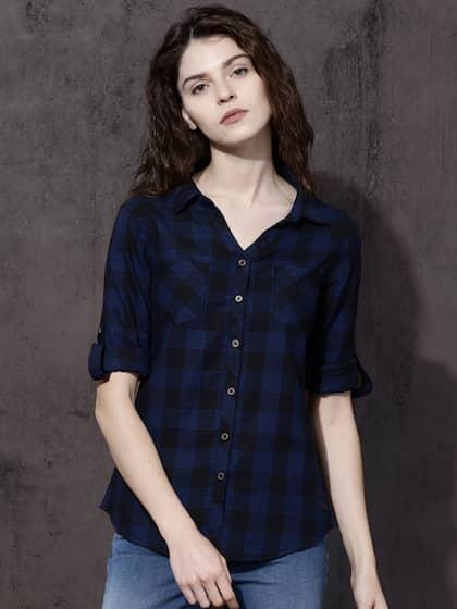 18ed4fa4a4e Women Shirts - Buy Shirts for Women Online in India | Myntra