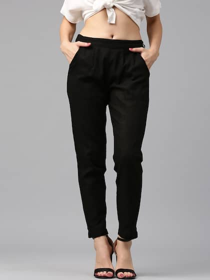 bc883c7d4195 Women's Trousers - Shop Online for Ladies Pants & Trousers in India ...