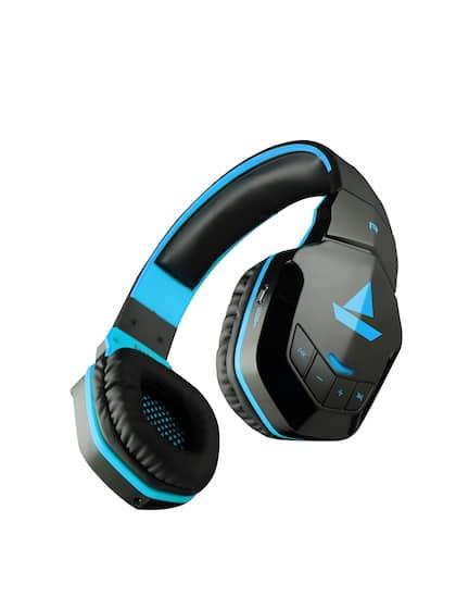 boAt Black & Blue Rockerz 510 Wireless Bluetooth Over Ear Headphones