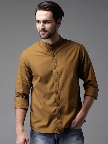 1168c9bfaac6a Brown Shirts - Buy Brown Shirt Online in India