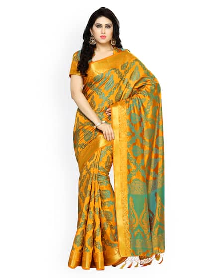 53593203115dfb Kanjeevaram Saree - Shop Kanjeevaram Silk Sarees Online | Myntra