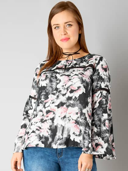 6171f235bddbc Faballey Peach Tops - Buy Faballey Peach Tops online in India