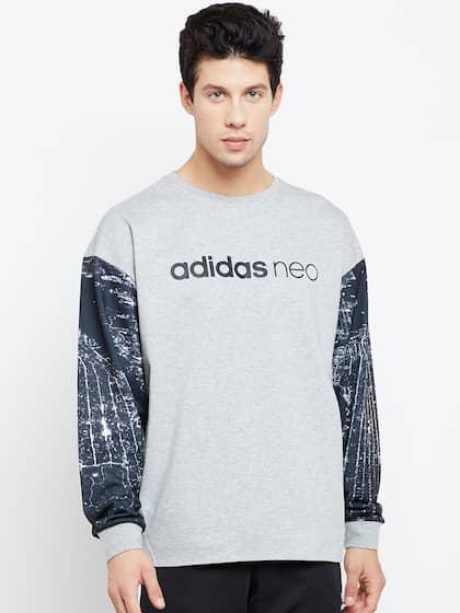 e08ead63383a Adidas NEO Men Grey Melange CS BRNDD Printed Sweatshirt