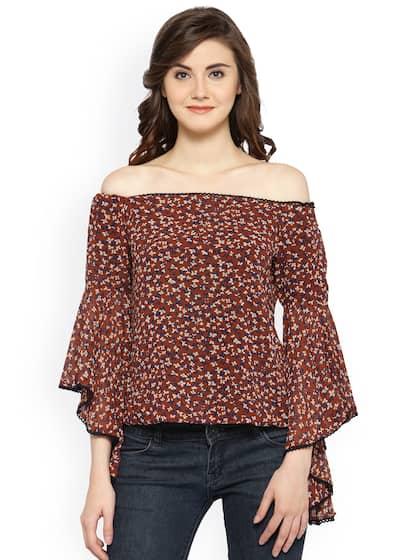 66f62be8728ab3 Off Shoulder Tops - Buy Off Shoulder Tops Online in India