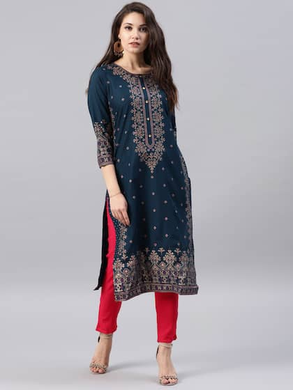 58a6cbe74 A Line Kurtas - Buy A Line Kurtas online in India