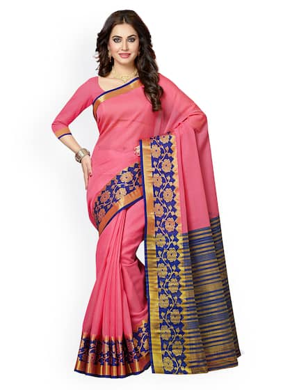 94bec8fa58 Ishin. Silk Cotton Chanderi Saree