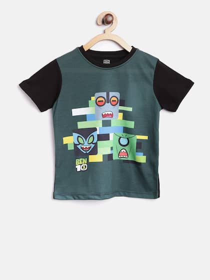 b8562958 YK Ben10. Printed Round Neck T-shirt