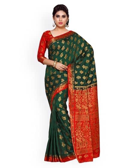 03d9dc643388e1 Kanjeevaram Saree - Shop Kanjeevaram Silk Sarees Online | Myntra