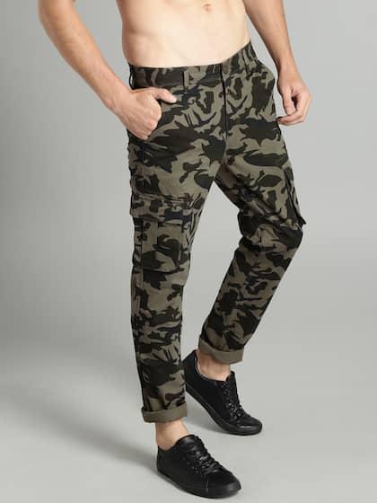 ef510f7bacc0 Cargo Pants For Men - Buy Latest Trendy Cargo Pants Online   Myntra