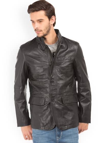 e4b28e25d0d7fe Leather Jackets - Buy Leather Jacket Online in India