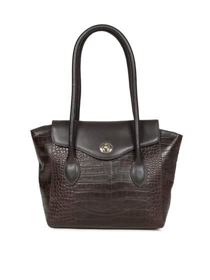 Hidesign Brown Textured Shoulder Bag