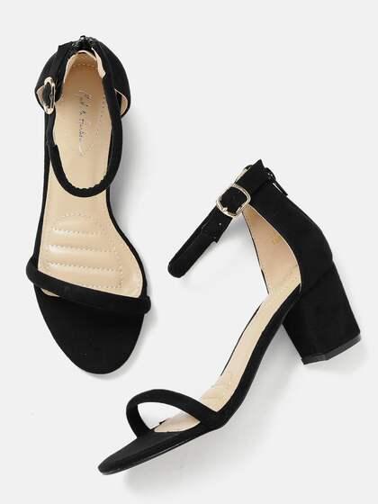 80f408e0473f Mast   Harbour Women Black Solid Sandals