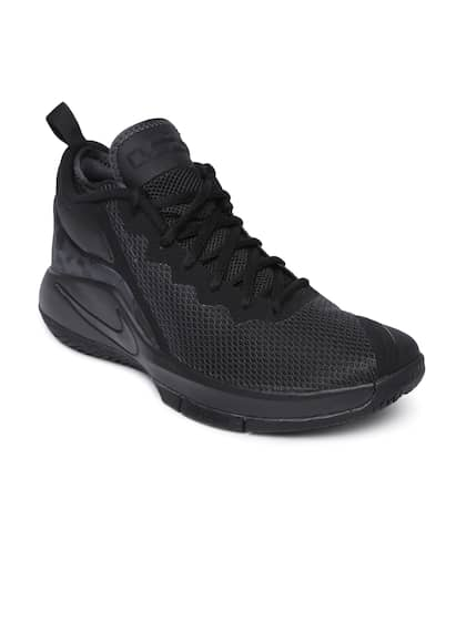 sports shoes 84937 aad25 ... clearance nike men black textile lebron witness ii mid top basketball  shoes 0c76c 6b077