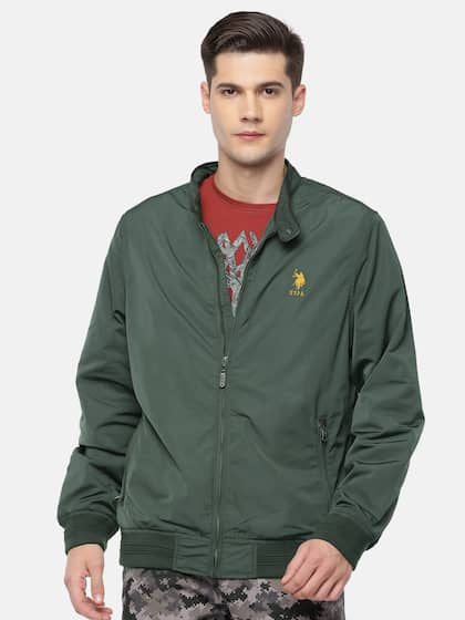 21bbd874fff9 Size. U.S. Polo Assn. Men Olive Green Solid Bomber Jacket