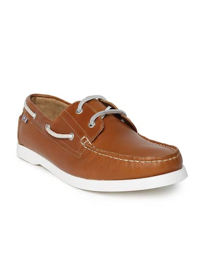 Arrow Men Tan Boat Shoes