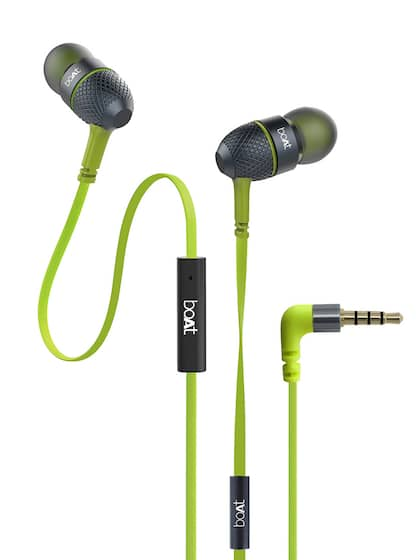 boAt BassHeads 220 Lime Tangle-free Wired Earphones with Enhanced Bass & Metal Finish