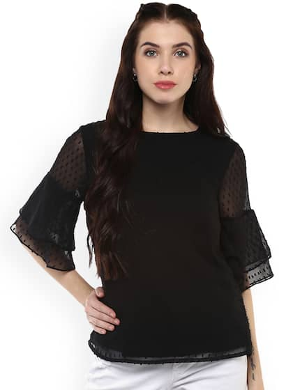 678c826f76 Black Tops - Buy Black Colour Tops Online in India | Myntra