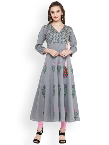 b11f4b0186fb Block Print Kurtas - Buy Block Print Kurtas online in India