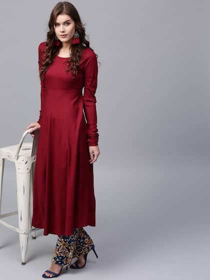 4894ab9a89 Anarkali Kurtis - Shop Anarkali Kurti For Women Online | Myntra